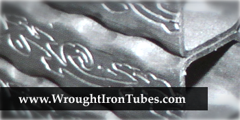 Flower Embossed Steel Tubes With Hammered Edge, Steel Handrails With Flower Embossing